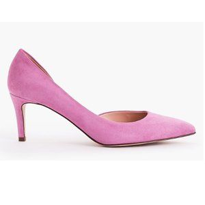 Lucie suede pumps in SUNDRENCHED PEONY